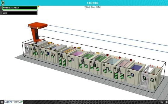 Vue 3D système informatique Corelec
