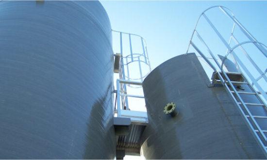 Photo de silo de traitement des effluents Corelec